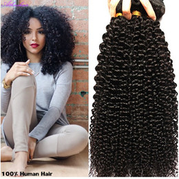Clip In 100% Human Hair Extensions Brazilian Mongolia Natural Black Color Afro Kinky Curly 100g set Full head free shipping