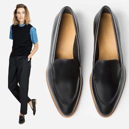 Wholesale The autumn wind restoring ancient ways of Casual Shoes leathers Shoes England single low shoes with ladfers pointed women s college wind