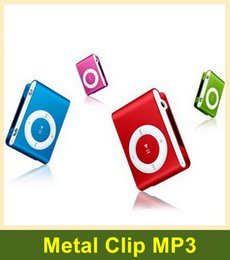 Wholesale Portable Metal Clip MP3 Player Sport MP3 Music Player Support Micro SD TF Card Music Media Without TF Card USB Cable And Headphones