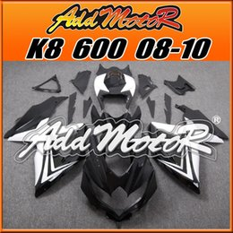 Wholesale Addmotor Bestselling Injection Mold Fairings Fit Suzuki GSX R600 GSX R750 GSXR600 K8 BodyKit Black White S6860 Five Gifts