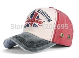 Wholesale Unisex Baseball Cap Denim uk flag Hat casual baseball cap Sun Hat Peaked cap For Men And Women