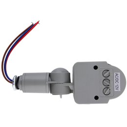 Wholesale New Arrived Automatic PIR Infrared Motion Sensor Detector Switch for LED Light Security grey