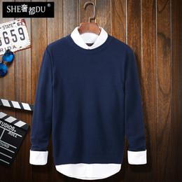 Wholesale Two pure color cultivate one s morality pullovers based render unlined upper garment contracted teenagers fall men
