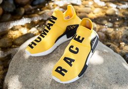 Wholesale 2016 Real Pictures New Style NMD HUMAN RACE Sports Shoes Mesh Sneakers Pharrell Williams Pink Women Sports Shoes