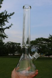 "18"" 9mm Glass Bong Beaker Ice thick elephant Joint waterpipe with 14 18 downstem 14mm bowl"