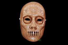 New Magic Movie Harry Potter Theme Skull Mask Death Eater Lucius Malfoy Full Face Resin Masks For Children And Halloween Masquerade Party