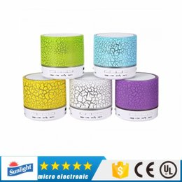 S10 Colorful LED Speaker Bluetooth Mini Speakers Portable Subwoofer Support FM radio Handfree AUX USB Port TF Card Speaker