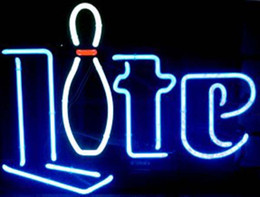 Wholesale Miller Lite Bowling Pin Neon Sign Handcrafted Custom Real Glass Tube Store Sport Bar Club Gameroom Advertising Display Neon Signs quot X14 quot