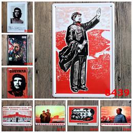 Wholesale lastest cm great revolution leader Mao Che guevara Tin Sign Coffee Shop Bar Restaurant Wall Art decoration Bar Metal Paintings