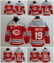 Wholesale Reds hoodies Baseball jerseys hoody Cincinnati BENCH ROSE VOTTO SANDERS GRIFFEY DROP SHIPPING freeshipping
