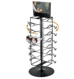 Promotion supports métalliques pour le verre Porte-lunettes porte-affichettes pivotant porte-affiches avec affichette KT clip métal noir porte-affiche blanc Support porte-lunettes