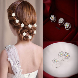 Wholesale-12 Pcs Delicate The Bride Hair Pins Headwear Shiny Hair Pins Headwear Wedding hairpins hair accessories
