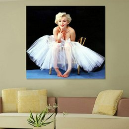 2016 New Marilyn Monroe art print on canvas for wall picture decoration oil painting for living room or coffee&bar unframed free shipping