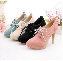 2018 Free shipping Fashion Sweety Lace Up Women High Heels Shoes Lady High Heels