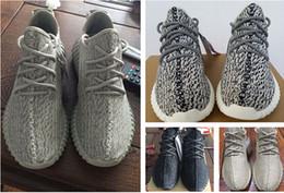 Una visión superior en Línea-La visión auténtica los zapatos corrientes Kanye de la manera del alza de la calidad superior 350 para los hombres y el tamaño 4-12 de las mujeres envío libre de DHL