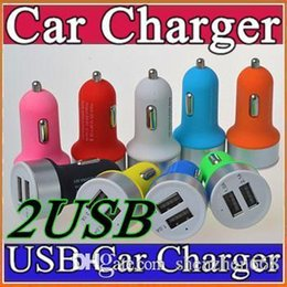 Wholesale High Quality Micro Auto Universal Dual USB Car Charger V A Mini Adapter With Short Circuit Protection for cell phone and table PC P SC