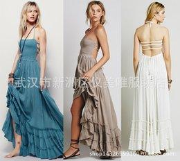 Wholesale A Amazon Foreign Trade Best Sellers Suit dress Free People Reveal Back Sandy Beach Longuette Cotton Dress