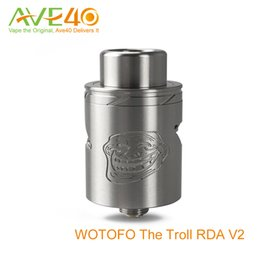 Wholesale new e cigs The Troll V2 RDA atomizer Authentic troll rda v2 Vape tank by WOTOFO A MOD VS Doge V2 RDA Freakshow ATTY ATB165 GeekVape RTA Tank