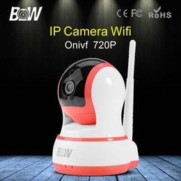 Wholesale BW IP Camera WiFi Wireless Smoke Gas Detector P T Video Surveillance Security CCTV Indoor IP Automatic Sensor Alarm System