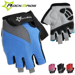RockBros Bicycle Gloves Non-Slip Breathable Men Women's Summer Sports Wear Bike Bicycle Cycling Cycle Gel Pad Half Finger Gloves