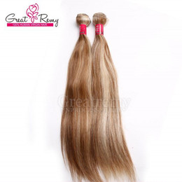 Greatrmy good quality #613-#18 two tone brazilian hair 613 ombre hair weft 12-30inch straight hair weavings