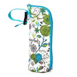 Wholesale Mummy Thermal Feeding Milk Water Bottle Bag nsulation Handbags Floral Print Zipper Carry Cup Bag Travel Portable Storage Accessories