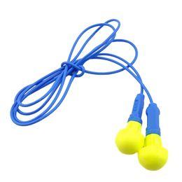 Mushroom Type Soft Foam Earplug Hearing Protection Ear Plug Ear Protector With Thread Earplug Safety Supplies Earplug