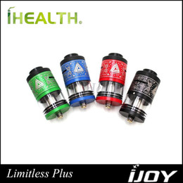 Wholesale iJoy Limitless RTDA Plus Atomizer ml Capacity Genesis Style Tank Dual Post Deck Original Limitless Plus RDTA