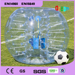 Free Shipping!1.5m Inflatable Bumper Ball Body Zorbing Bubble Soccer Football Human Bouncer