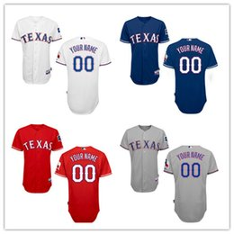Wholesale HOT SALE Men s Texas Rangers Custom Jerseys High Quality Stitched Any Name and Number You Decide Four Colors Allowed