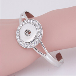 10 PCS SNAP Style Jewelry noosa SNAP Jewlery Silver Snap Charm Cuff Bracelet with colorful rhinestone