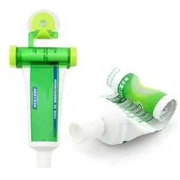 Wholesale Creative Rolling Squeezer Toothpaste Dispenser Tube Partner Sucker Hanging Holder Tooth Paste Tube Squeezer Color Mini Bathroom Set