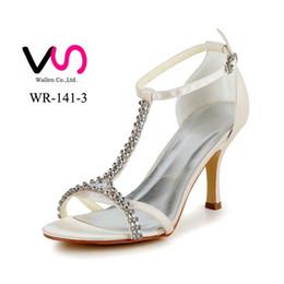 Wholesale Sexy Kitten Heel Sandals - 2017 Nice Sexy Stiletto Heel Strap Rhinestones Sandal Bridal Shoes Wedding Shoes Bridemaid Shoes Flower Girl Shoes Wedding Dress Shoes