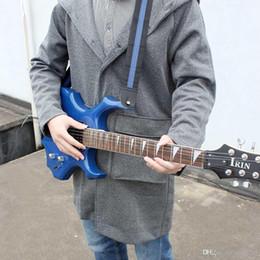 Correa de guitarra de Nylon tejida duradera ajustable con extremos de cuero para guitarras folk acústicas eléctricas de alta calidad desde guitarra acústica de nylon proveedores