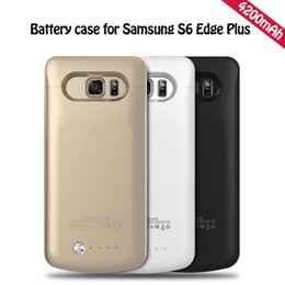 Wholesale 10pcs External Rechargeable mah Portable Backup Power Charger Battery Case for Sumsung Galaxy S6 Edge Plus Power Case Cover Pack