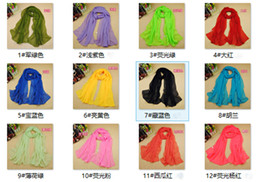 Wholesale 2016 High grade Chiffon Solid color Silk Scarf Fashion New Pattern High quality Monochrome Silk Scarf col