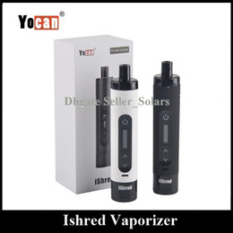 Original Yocan iShred Herbal Vaporizer 2600mAh Built In Lipo Capacity Hery Herb Vape Pen Starter Kit Black White Color