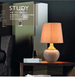Wholesale Contemporary and contracted ceramic desk lamp desk lamp of bedroom the head of a bed lamp European ideas sitting room adornment