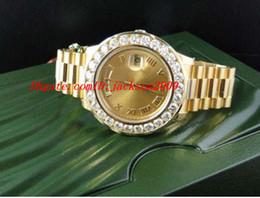 Wholesale Fashion Wristwatch Amazing Mens DayDate II k MM Presidant Yellow Gold Diamond Watch Automatic Mens Watch Men s Watches Top Quality