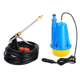 Wholesale High Pressure Portable Car Washer with Submersible Pump DC12V W Water Gun Full Sets with Car Cigarette Lighter Adapter