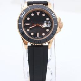 Hot! Luxury man Yatch tungsten steel bezel ceramci sports 40 mm automatic rose gold men's watch + Free Hongkong Post