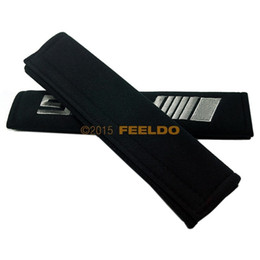 Interior Accessories Seat Belts Padding 1Pair Car Auto Embroidered Seat Belt Cushion Cover Pad for RECARO #3731