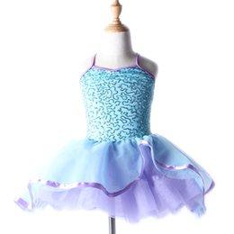 Wholesale ballet tutu dress ballet dress for children professional ballet tutu children condole belt sequins princess dress ballet skirt acrobat