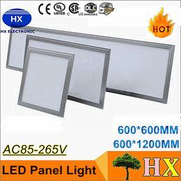 Скидка качество панели Высокое качество 48W Светодиодные панели огни потолочный светильник 600x600 SMD2835 120 градусов Теплый Холодный белый свет водить вниз 85-265V CE FCC CSA UL