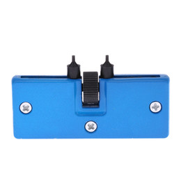 Wholesale Portable Rectangle Anchor Adjustable Watch Screw on Back Case Cover Opener Remover Wrench Repair Repairing Kit Tool H11812
