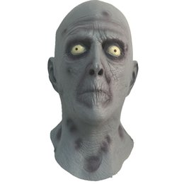 Gray Old Man Mask Head Terror Latex Rubber Masks For Halloween Cosply Fancy Dress Big Discount Free Shipping