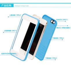 Apple Iphone waterproof phone case for protection scratch Soft TPU Material Touch ID