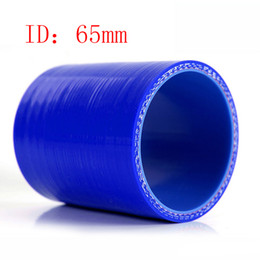 """Universal Samco 2.56"""" ID:65mm 3-Ply Straight Silicone Intercooler Turbo Air Intake Pipe Coupler Hose blue Intercooler silicone pipe"""