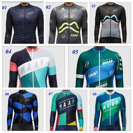 Wholesale Newest MAAP Cycling Pro Team Long Sleeve Cycling Jerseys Ropa Ciclismo Mountain Bicycle Quick Dry Bike Clothing Autumn Winter Wear