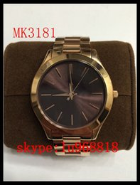 Wholesale TOP QUALITY BEST PRICE New MK3178 MK3179 MK3181 MK3197 MK3198 MK3221 Slim Runway Stainless Steel Watch